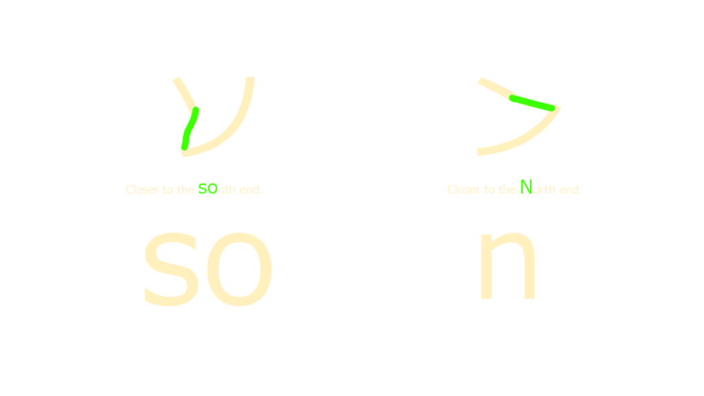 difference between katakana so and n